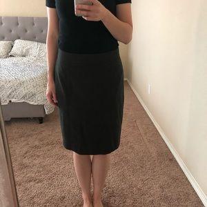 Loft Gray Pencil Skirt (Curvy)